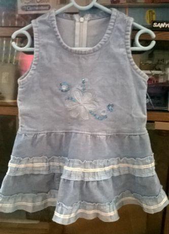 Sukienka princeska z falbanką r.86-92