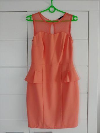 Sukienka z baskinką mohito rozmiar M 38 idealna na wesele