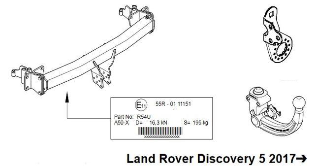 Hak holowniczy wypinany Land Rover Discovery V (L462) model 2017-