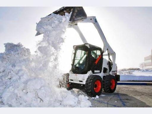 Послуги бобката, прибирання снігу, Бобкат, bobcat уборка снега