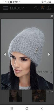 Женская ангоровая шапка