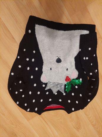 Sweterek świąteczny dziewczęcy r. 134