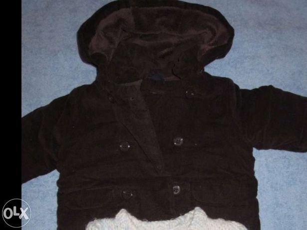 Parka com oferta de luvas (oferta casaco reversível)