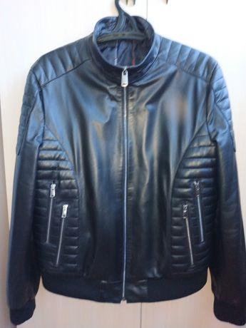 Куртка кожаная новая XXL