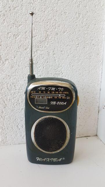 Радио с антенной. Не работает. Для атмосферного интерьера
