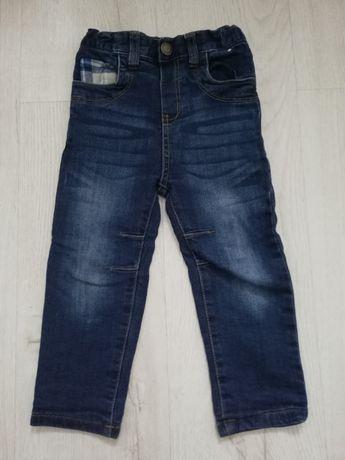 Spodnie, jeansy, lekko ocieplane, 98