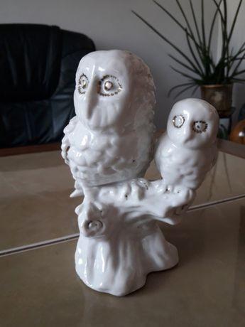 Porcelanowe antyczne sowy