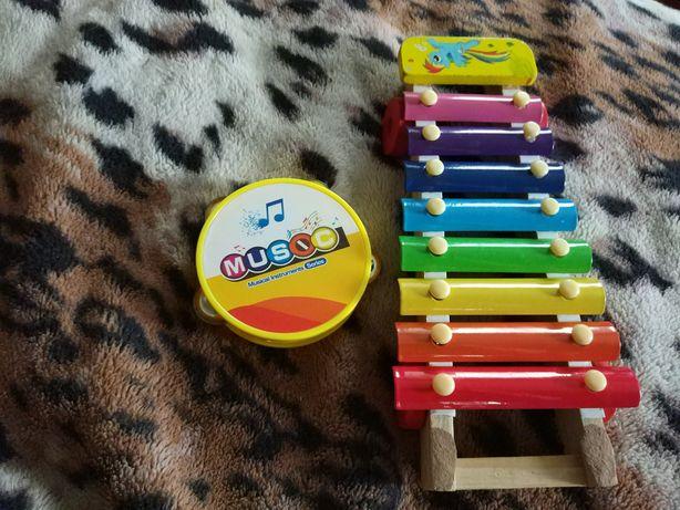 2 музыкальные игрушки набором вместе за 50 грн