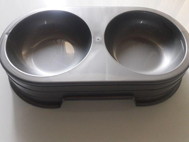 Sum-Plast - Miska dwukomorowa dla psów i kotów 0,6L