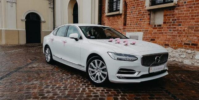 Auto do ślubu Volvo s90 biła perła