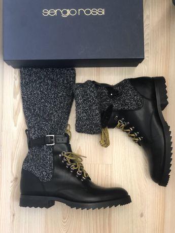 Ботинки Сапоги Sergio Rossi размер 43 santoni givenchy Versace etro