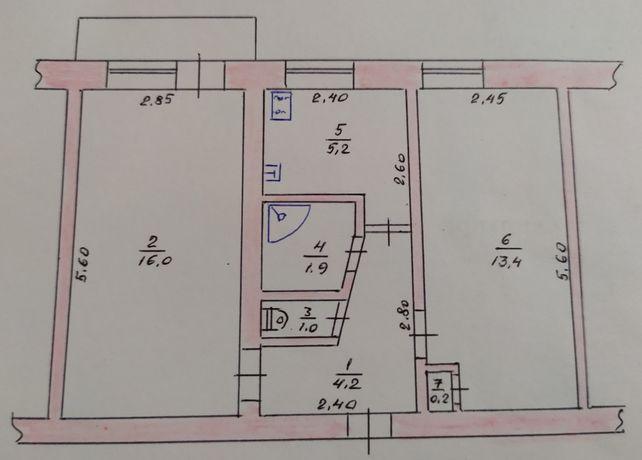 2-х комнатная квартира Корабельная 16, обмен на 3х комн.