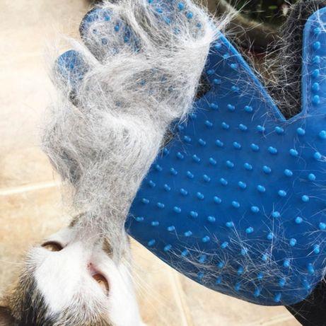 Escova luva de pelo, escovar o seu Gato ou Cão. Novo. Envio Gratis