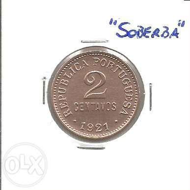 Espadim - Moeda de 2 Centavos de 1921 - Soberba