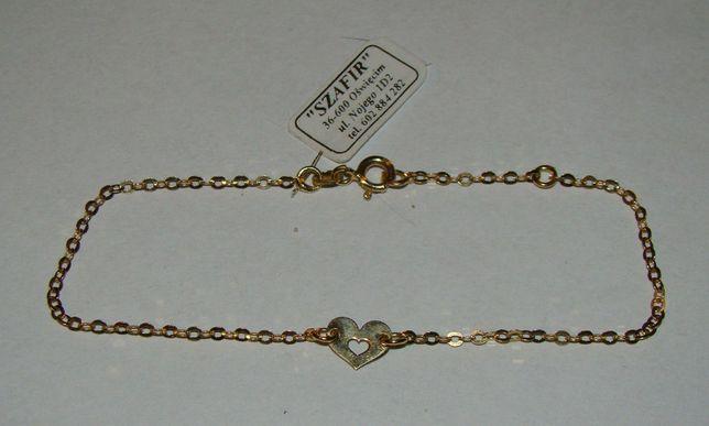 Złota bransoletka 14 karat próby 585-Firma Szafir-Wzór 106