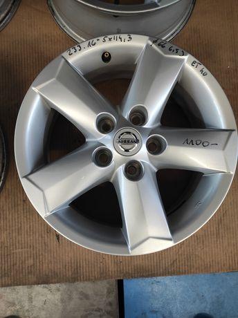 233 Felgi aluminiowe ORYGINAŁ NISSAN R 16 5x114,3 Qashqai bardzo ładne