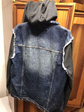 Джинсова куртка худі легка