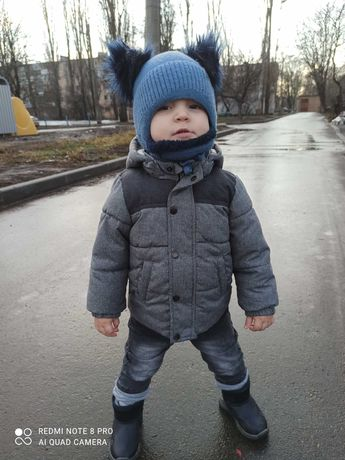 Куртка зимняя на мальчика 1-2 года