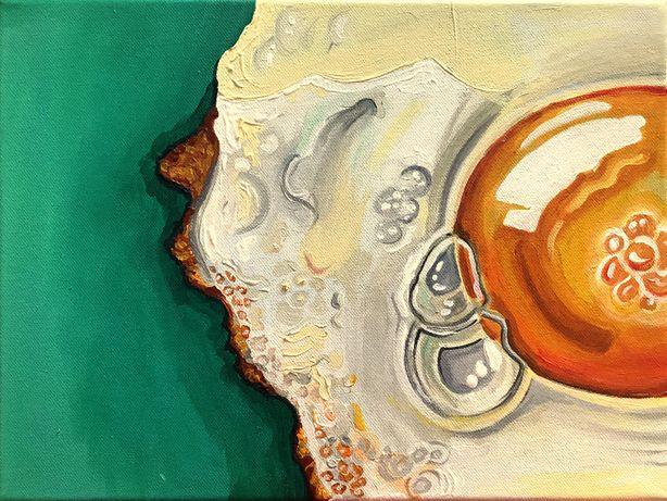 Obraz akrylowy ręcznie malowany na płótnie bawełnianym- 30x40 cm