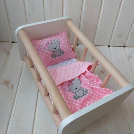 В наличии Игрушечная кроватка-качалка с постелькой для пупса Baby Born