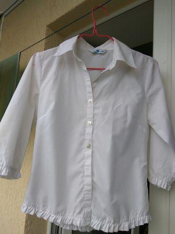 Блуза белая new look размер 38 на девочку лет 11-12