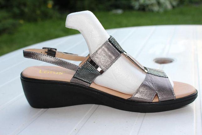 skórzane sandały Lotus 42 = 27,5cm szerokie