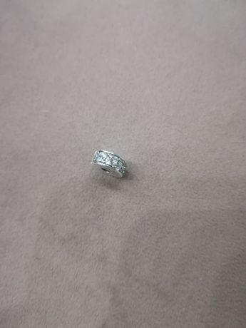 Nowy srebrny charms klips Pave Pandora