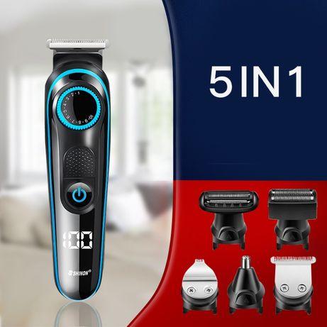 Триммер Shinon 5 в 1, 5W, (лицо, борода, тело, голова, нос)