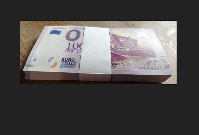 0 Euro -Samsun - 19 mayis 1919 Paczka bankowa 100szt Pakiet