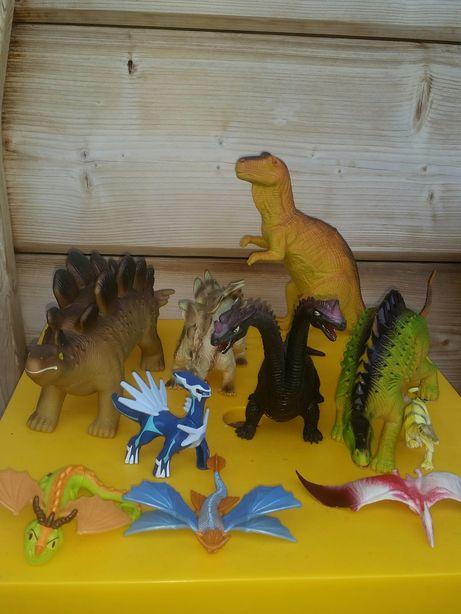 Dinozaury duże jak nowe! Zestaw 7 szt +3 gratis