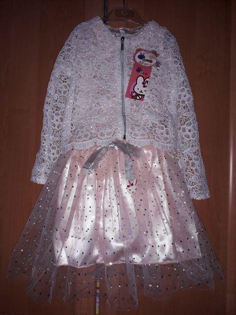 Плаття + кофта, сукня святкові 7-8р., платье нарядние