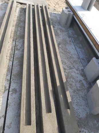 Słupki Betonowe na 5 płyt , ogrodzenie betonowe na 5 płyt