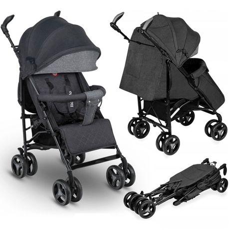 Nowy wózek spacerowy spacerówka parasolka LIONELO IRMA czarny