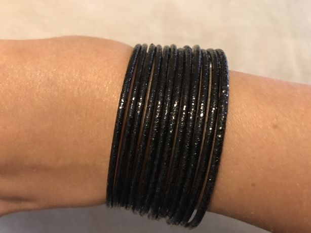 Conjunto 12 pulseiras pretas (Parfois) - como novas