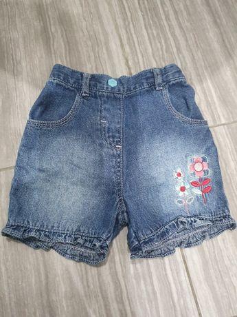 Джинсовые шорты шортики на девочку, 9-12 мес.