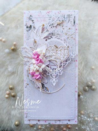 Kartka ślubna, prezent ślubny, kartka ręcznie robiona, walentynka