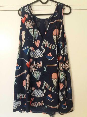 Vestido Zara com estampa