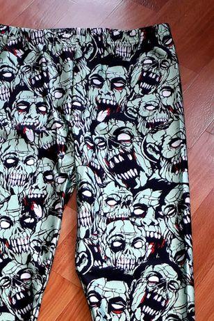 L. Legginsy rock czaszki sportowe leginsy Zombie Halloween