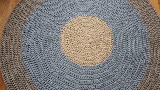 Dywan ze sznurka bawełnianego, 120 cm