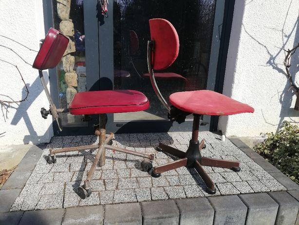 krzesło techniczne PRL lata 60, 70 , 80 biurowe zakładowe LOFT