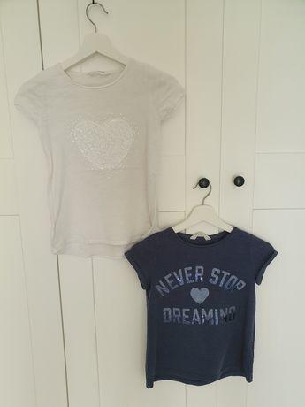 2 koszulki HM 134-140