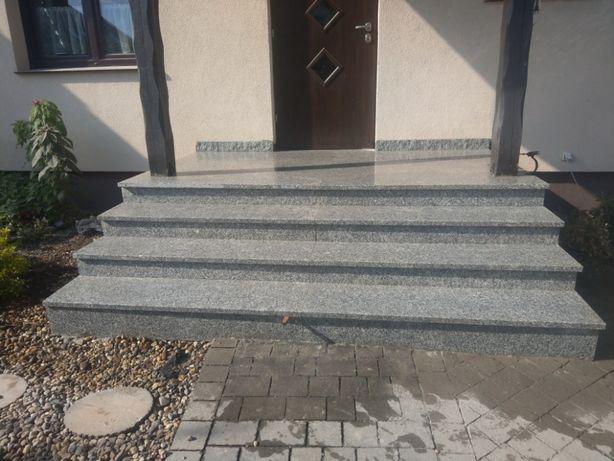Parapety Blaty Schody stopnie granitowe granit szare strzegomskie