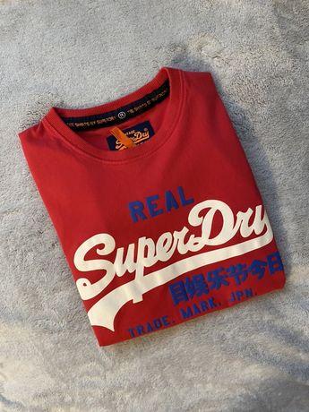 Koszulka t-shirt Superdry czerwona M