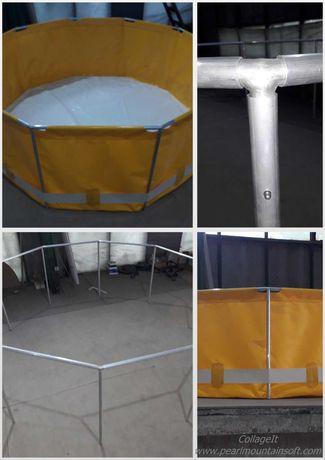 Басейн: діаметр - 3м, висота - 1.2м