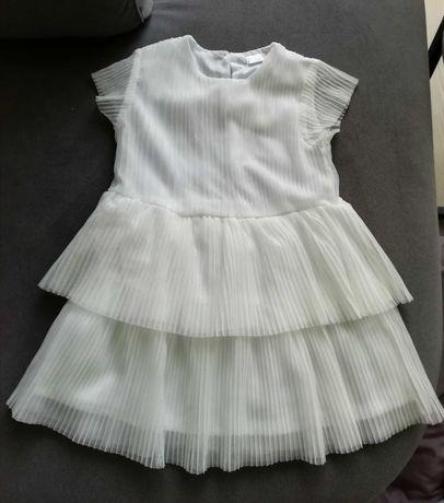 Biała sukienka wizytowa /do chrztu/na roczek