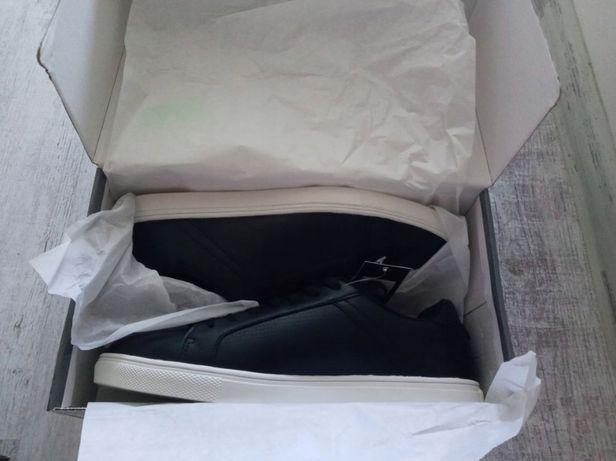Sportowe buty trampki męskie Flm czarne rozmiar 44 nowe sneakersy