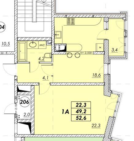 Двухкомнатная квартира в новом доме на Молдаванке. Цена 35500 у.е.