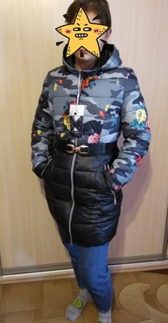 Куртка пальто зимнее, курточка зимова 48-50 р