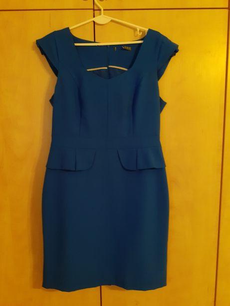 Sukienka chabrowa rozmiar 42 XL baskinka