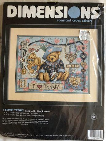 Dimensions I love teddy набор для вышивания